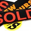 Sold sticker — Stockfoto