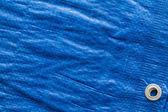 Blue tarp — Zdjęcie stockowe