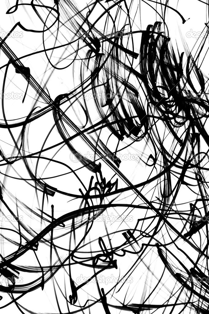 Black and white scribbles — Stock Photo #7505724