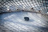 Hockey goal — Stock Photo