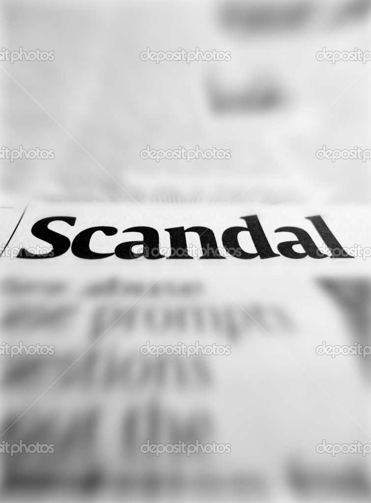 Scandal headline in newspaper  Stock Photo #7769777
