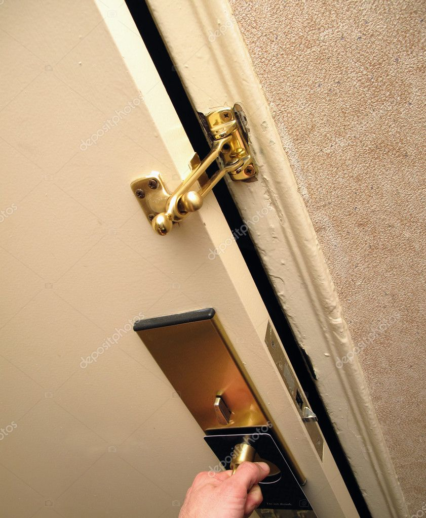 Säkerhet på dörr u2014 Stockfotografi u00a9 bradcalkins #7871072