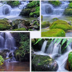 Waterfalls and nature — Stock Photo