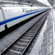 Bullet train at Tokyo Station - Stock Photo