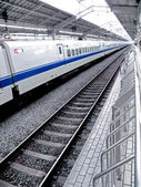 Bullet train at Tokyo Station — Stock Photo