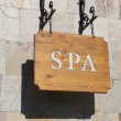 "Stock Photo: Wooden sign ""SPA""."