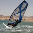 Turning windsurfer. — Stock Photo