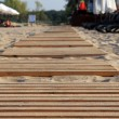 Stock Photo: Wooden path.