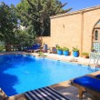 The swimming pool in Moroccan villa. — Foto Stock