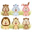 Stock Vector: Cute Animal Collections