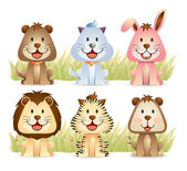 Cute Animal Collections — Stock Vector