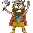 Stock Vector: Angry Viking Man