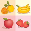 Fruit Collections — Stock Vector