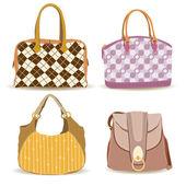 Woman Handbag Collections — Stock Vector