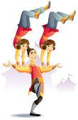 Circus Acrobatic — Stock Vector