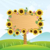 Sinalização de madeira de verão — Vetorial Stock
