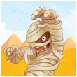 Mummy Cartoon Illustration — Imagen vectorial