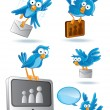 Stock Vector: Social MediNetwork Bluebird