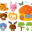 Royalty-Free Stock Vector Image: Cute Animal Collections