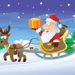 Royalty-Free Stock Vector Image: Santa and Reindeer