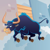 Angry Bull — Stock Vector
