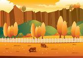 Autumn Landscape — Wektor stockowy