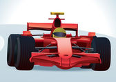 F1 Racing Car — Vector de stock