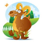 Goat Illustration Cartoon — Stock Vector