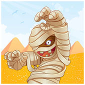 Mummy Cartoon Illustration — Stock Vector