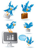 Social Media Network Bluebird — Stock Vector