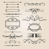 Vector Set Border Design Element — Vettoriale Stock
