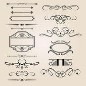 Vector conjunto elemento de diseño en frontera — Vector de stock