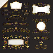 Gold Border Vector Set — Stock Vector
