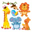 Cute Animal Collection - Imagen vectorial