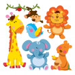 Cute Animal Collection - Stock Vector