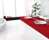 Luxurious Red Bathroom — Stock Photo