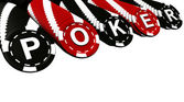Poker Chips Rows — Stock Photo