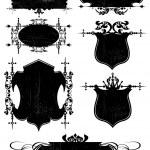 Black Frame. Retro. Revival. Old. Grunge — Stock Vector #7487811
