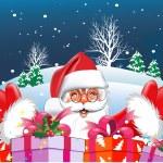 Backgrounds Christmas. Santa-claus — Stock Vector #7488515