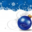 Christmas balls. Blue Background — Stock Vector