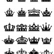 Crown. Large Set of isolated symbols — Imagens vectoriais em stock