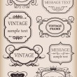Stock Vector: Frames set. Vintage