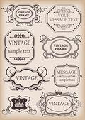 Frames set. Vintage — Stock Vector