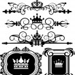Royalty-Free Stock Vector Image: Victorian Scrolls and crown. Decorative elements. Vintage