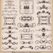 Royalty-Free Stock Vector Image: Vector set. Vintage Design Elements for your design. Calligraphy