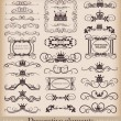 Stock Vector: Vector set. Vintage Design Elements for your design. Calligraphy