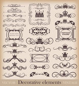 Vector set. Vintage Design Elements for your design. Calligraphy — Stock Vector
