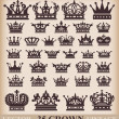 Crown. Vector set. Collection icons — Stok Vektör