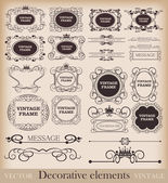 Vector set. Frame. Vintage Elements for your design. — Stock Vector