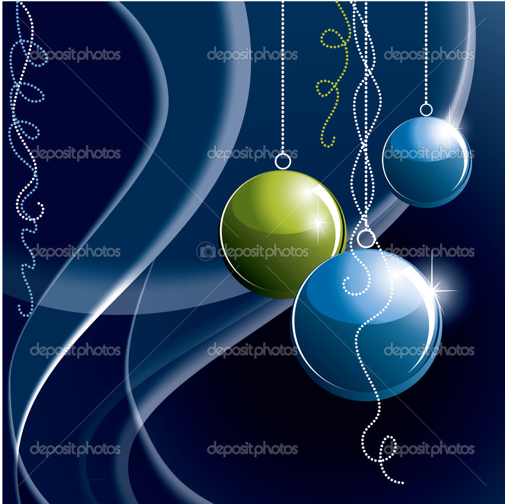 Christmas Background. Illustration. — Stock Vector #7521494